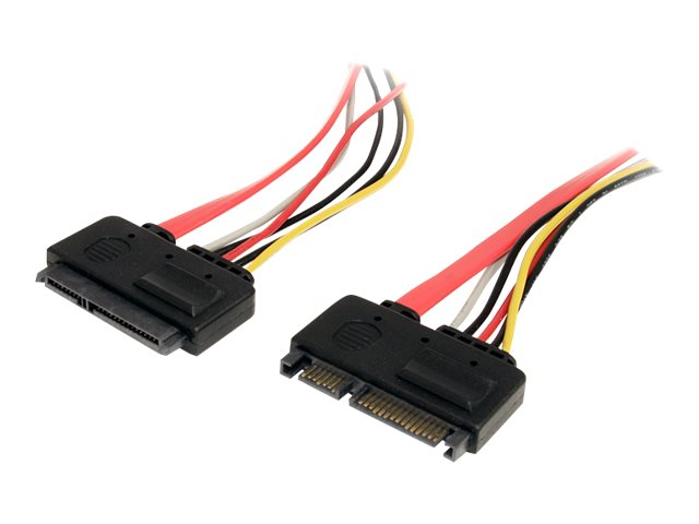 StarTech.com 22 Pin SATA Power and Data Extension Cable, 12in, SATA22PEXT, 13352401, Cables