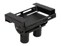 Peerless Modular Dual Pole I-beam Ceiling Plate for I-beams between 3-3 8 to 9-7 8w, Black