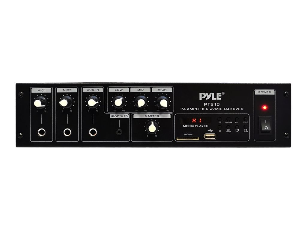 Pyle 240W PA Power Amp w  70V Output & Mic Talkover
