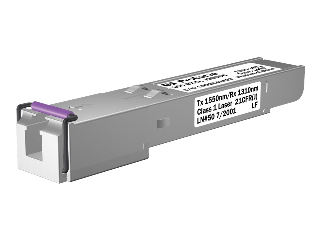 HPE 100-BX-D SFP-LC Transceiver, J9099B, 9274913, Network Transceivers