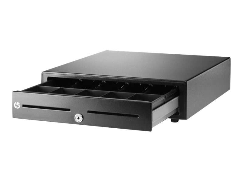 HP USB Standard Duty Cash Drawer, Black, E8E45AA#ABA