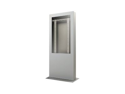 Peerless Portrait Kiosk Enclosure for 46 Displays, Silver, KIP546-S