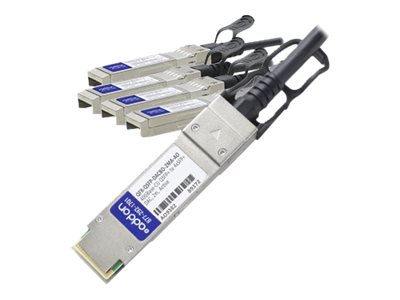 ACP-EP 40GBASE-CU QSFP+ to 4x SFP+ Direct Attach Active Twinax Cable, 2m, QFX-QSFP-DACBO-2MAAO
