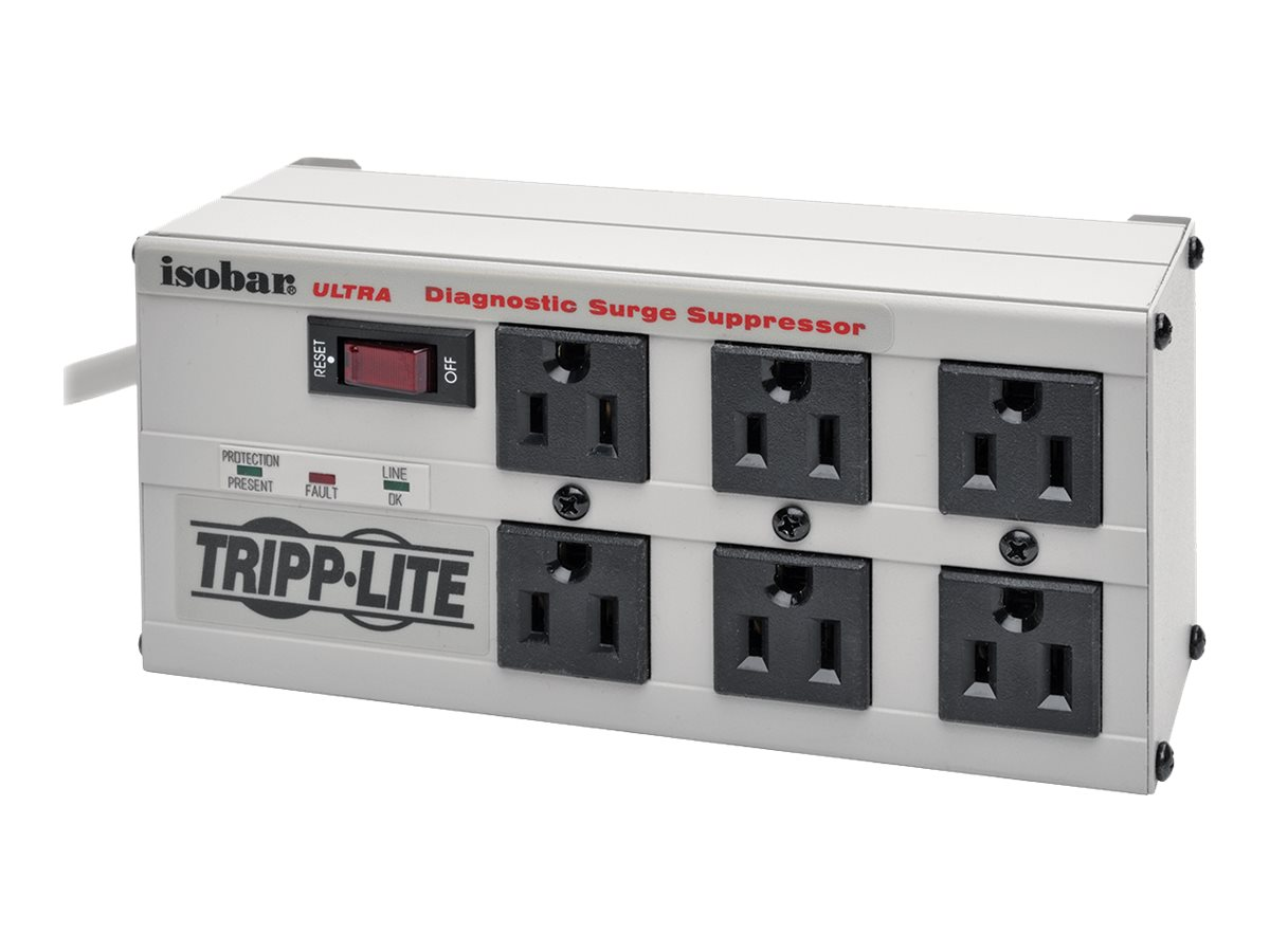 Tripp Lite Isobar Ultra Surge (6) Outlet 6ft Cord LEDs 3330 Joules, ISOBAR6ULTRA
