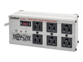 Tripp Lite Isobar Ultra Surge (6) Outlet 6ft Cord LEDs 3330 Joules, ISOBAR6ULTRA, 8630, Surge Suppressors