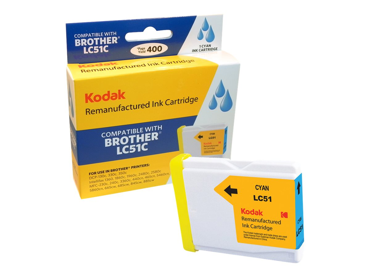 Kodak LC51C Cyan Ink Cartridge for Brother DCP, LC51C-KD