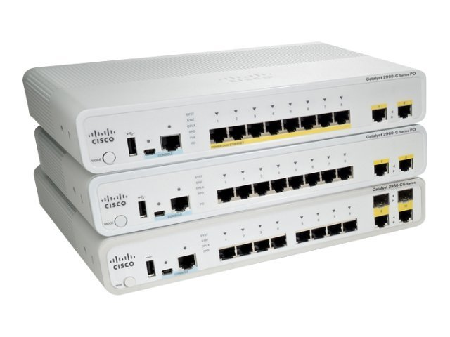 Cisco Catalyst 2960C Switch (8) GE (1) Dual Uplink LAN Base, WS-C2960CG-8TC-L, 12809464, Network Switches