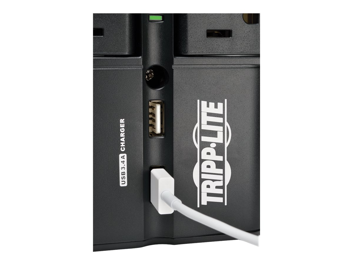 Tripp Lite Protect It! Surge Suppressor Direct Plug-In, 1080 Joules, (4) Rotatable Outlets, 3.4A USB Charger, SK40RUSBB