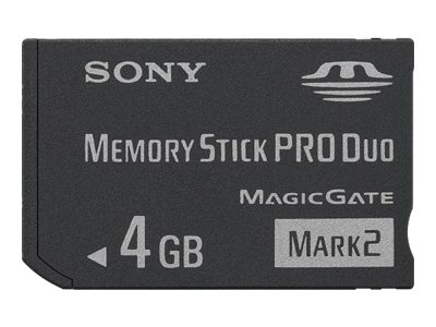 Sony 4GB MemoryStick Pro Duo Mark 2, MSMT4G/TQMN, 15409263, Memory - Flash