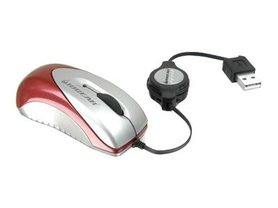 IOGEAR USB Optical Mini Mouse 800dpi with Retractable Cable, GME222A