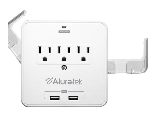 Aluratek Mini Surge Dual USB Charging Station with Holding Trays, AUCS07F