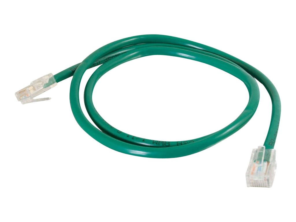 C2G Cat5e Non-Booted Unshielded (UTP) Network Patch Cable - Green, 8ft