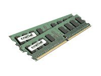 Crucial 2GB PC2-8500 240-pin DDR2 SDRAM DIMM Kit, CT2KIT12864AA1067, 13260653, Memory