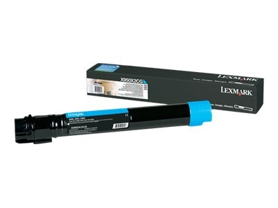Lexmark Cyan Extra High Yield Toner Cartridge for X950de, X952dte & X954dhe Color Laser MFPs, X950X2CG