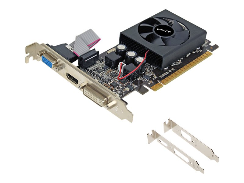 PNY GeForce GT 610 PCIe 2.0 Graphics Card, 1GB DDR3, VCGGT610XPB, 14256314, Graphics/Video Accelerators