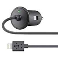 Belkin 12W Coil Mini Car Charger, Lightning Cable, Black, F8J114BT04-BLK, 22710960, Automobile/Airline Power Adapters