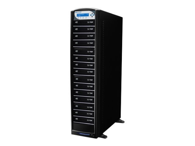 Vinpower SharkBlu HDD to 15 SATA Blu-ray DVD CD Tower Duplicator - LG 12x, BD-LG-15-BK, 15131804, Disc Duplicators