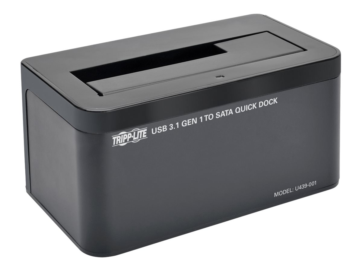 Tripp Lite USB 3.1 Gen 1 to SATA Hard Drive Quick Dock for 2.5 & 3.5 Hard Drive & Solid State Drive, U439-001