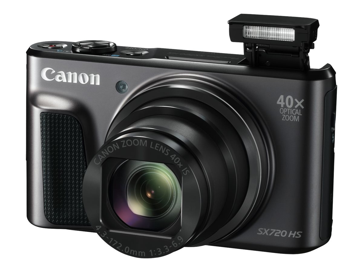 Canon PowerShot SX720 HS Digital Camera, Black, 1070C001