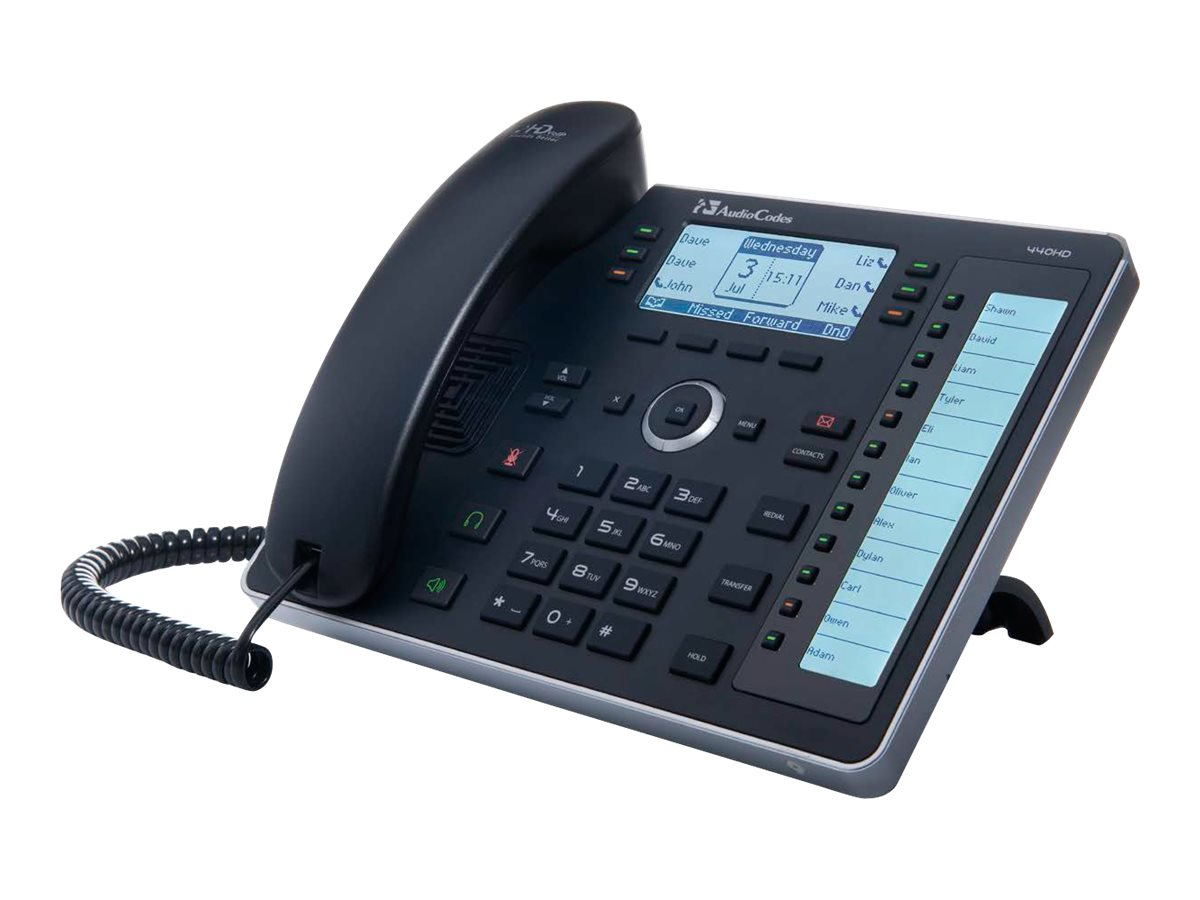 AudioCodes Lync 440HD IP-Phone w POE, External PS, UC440HDEPSG, 30740211, VoIP Phones