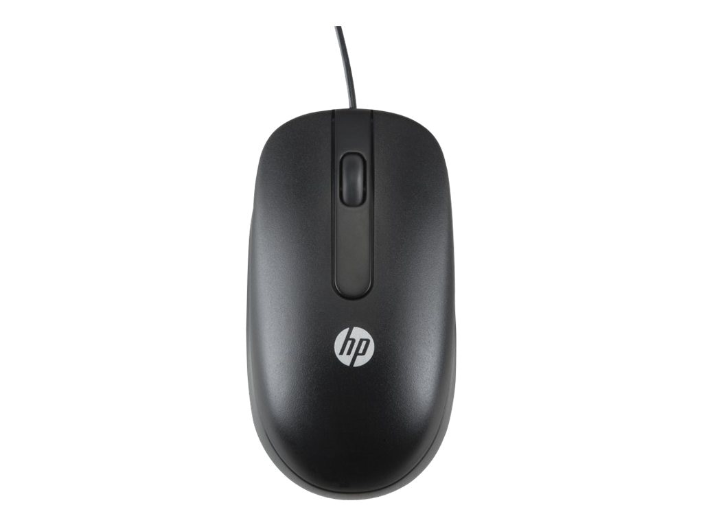 HP PS 2 Optical Mouse, 800dpi, Black, QY775AA