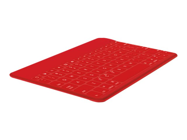 Logitech Keys-To-Go Portable Keyboard for iPad, iPhone, Apple TV, Red, 920-006722