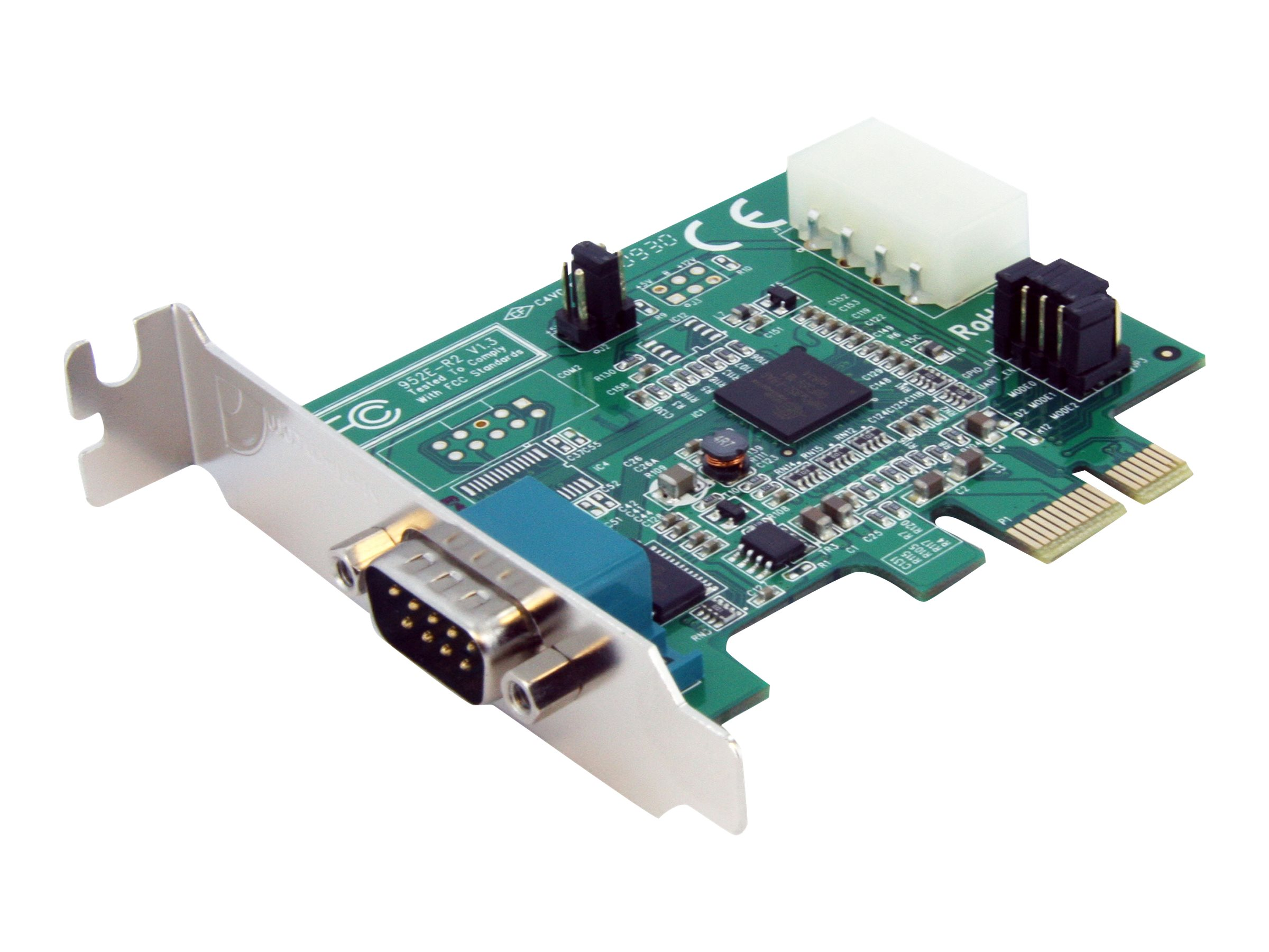 StarTech.com 1 Port Low Profile Native PCI Express Serial Card w  16950, PEX1S952LP