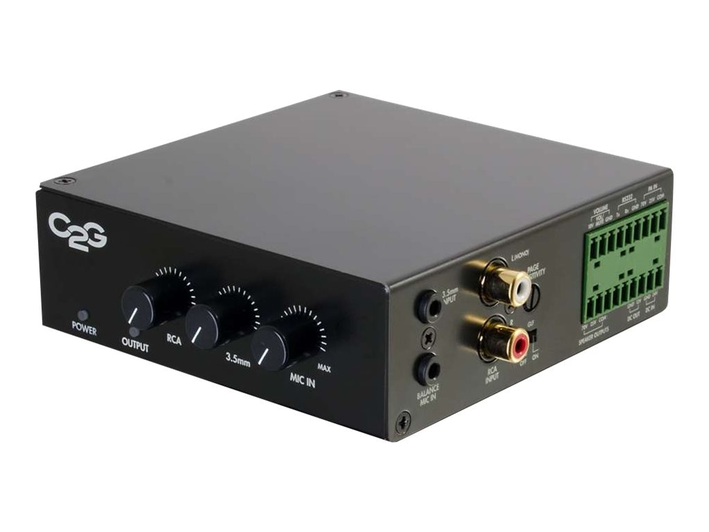 C2G 25 70V 50W Audio Amplifier - Plenum Rated, 40881, 21812526, Music Hardware