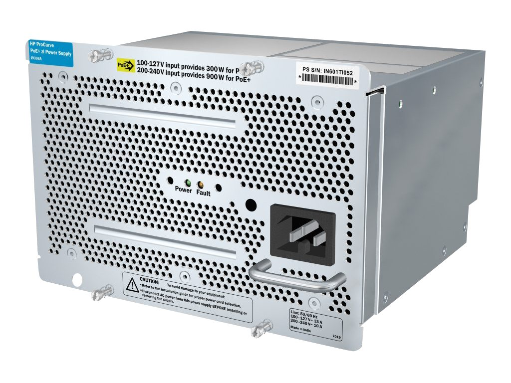 HPE ProCurve 1500W PoE PoE+ zl Power Supply