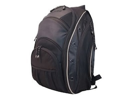 Mobile Edge EVO Laptop Backpack, Fits 16 PC, 17 Mac, Black Silver, MEEVO1, 11634447, Carrying Cases - Notebook