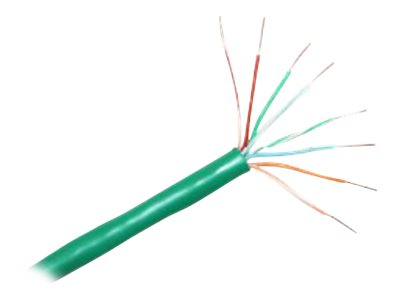CP Technologies ClearLinks Bulk Cat6 550MHz UTP PVC Stranded Cable, Green, 1000ft, C6-207-4P-GR