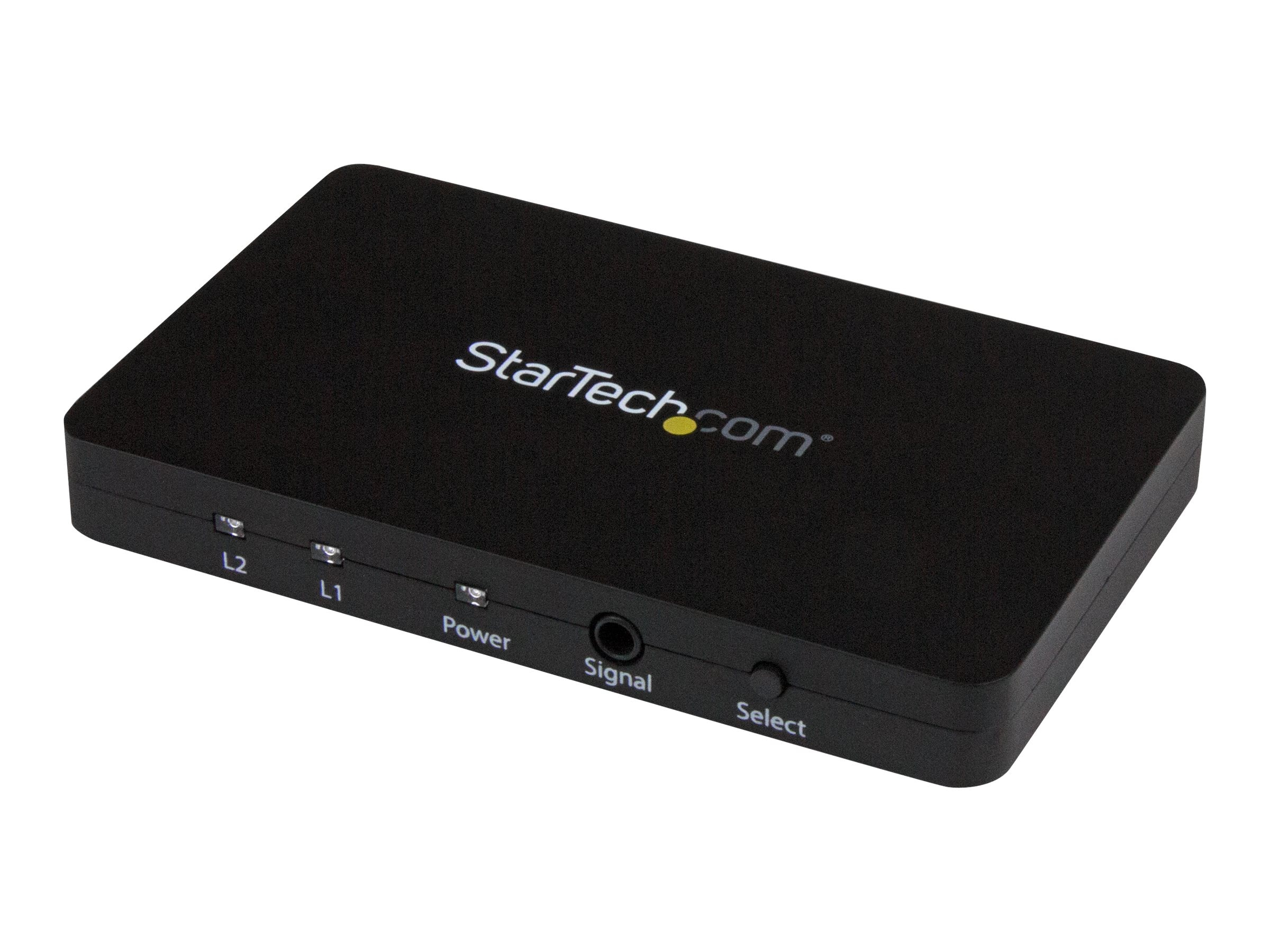 StarTech.com 2-Port HDMI Automatic Video Switch w  Aluminum Housing and MHL Support, 4K 30Hz, VS221HD4K