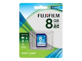 Fujifilm 8GB SDHC Flash Memory Card, 600008956, 12456700, Memory - Flash