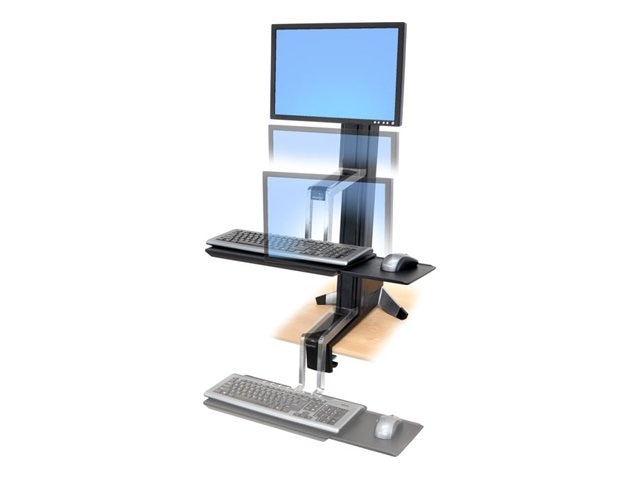 Ergotron Workfit-S Single LD Sit-Stand Workstation, 33-342-200, 11809892, Ergonomic Products