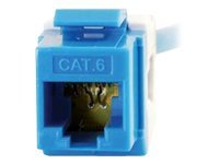 C2G Cat6 180-Degree Keystone Jacks, Blue, 35211, 8685147, Cable Accessories