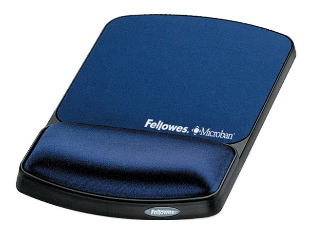 Fellowes Gel Wrist Rest and Mouse Pad with Microban, Sapphire, 9175401, 5821182, Ergonomic Products