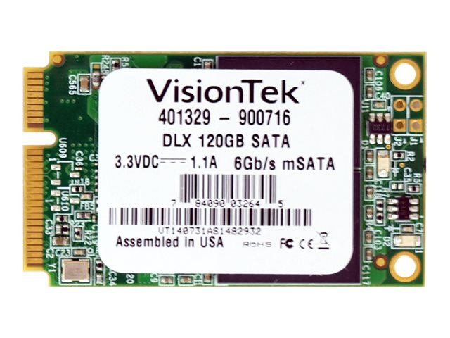 VisionTek 120GB DLX mSATA ONFI Asyncronious MLC Internal Solid State Drive, 900716, 30967116, Solid State Drives - Internal