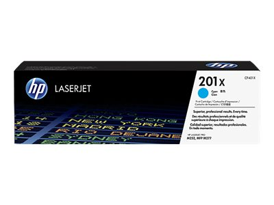 HP 201X High Yield Cyan Original LaserJet Toner Cartridge w  JetIntelligence for M252, M277 Series
