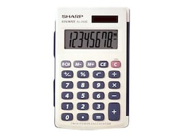Sharp 8 Digit Handheld Calculator W  Hard Cover, EL243SB, 5274705, Calculators