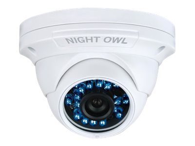 Night Owl 900 TVL Hi-Resolution Security Dome Camera with Audio, 75ft Night Vision, CAM-DM924A, 17753412, Cameras - Security