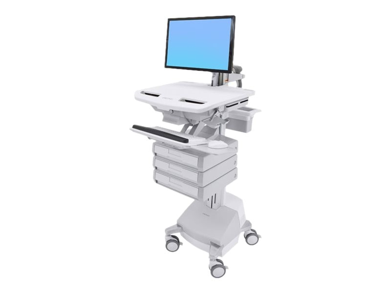 Ergotron StyleView Cart with LCD Arm, SLA Powered, 3 Drawers, SV44-1231-1