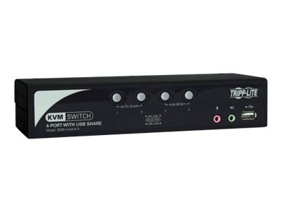 Tripp Lite 4-Port KVM Switch with Audio, OSD and Peripheral Sharing