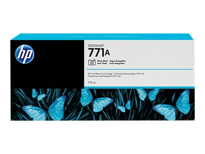 HP 771A 775-ml Photo Black Designjet Ink Cartridge, B6Y21A, 15709207, Ink Cartridges & Ink Refill Kits