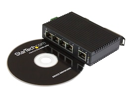 StarTech.com 5-Port Industrial Ethernet Switch - DIN rail mountable, IES5102, 18570386, Network Switches