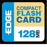 Edge 128MB CompactFlash Memory Card, PE179465, 235813, Memory - Flash