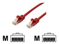 Bytecc CAT6E 550MHz Patch Cable, Red, 15ft, C6EB-15R, 31239815, Cables