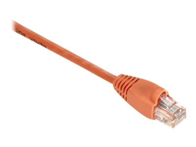 Black Box GigaBase 350MHz CAT5E Snagless Booted Patch Cable, Orange, 4ft