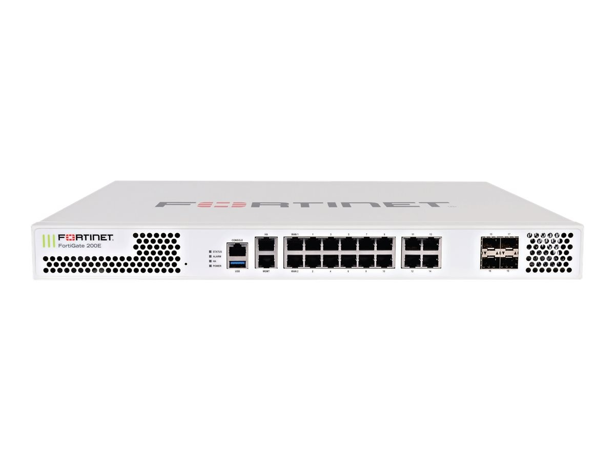 Fortinet FortiGate 200E w 24x7 FC & FG (3 Years)