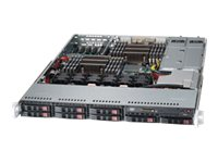 Supermicro SuperServer Barebones 1U RM Xeon E5-2600 Family Max.512GB DDR3 8x2.5 HS Bays PCIe GNIC 2x750W