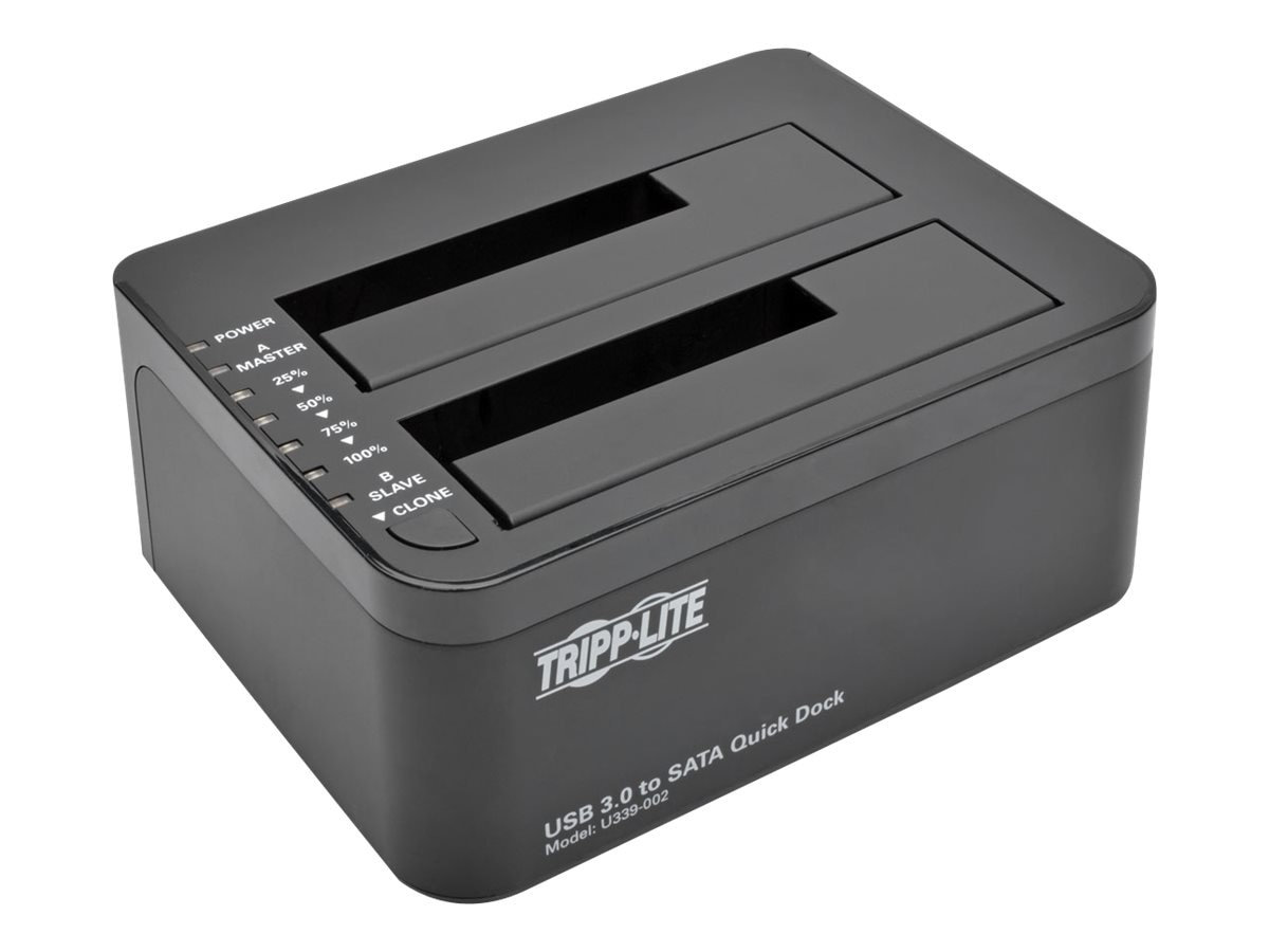 Tripp Lite USB 3.0 to Dual SATA Docking Cloning Station, U339-002